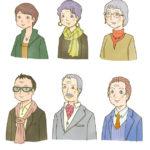 カット集/老年期の男女